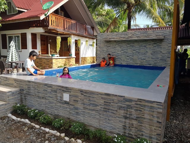 Private Room with Own T&B in a Beach Resort w Pool