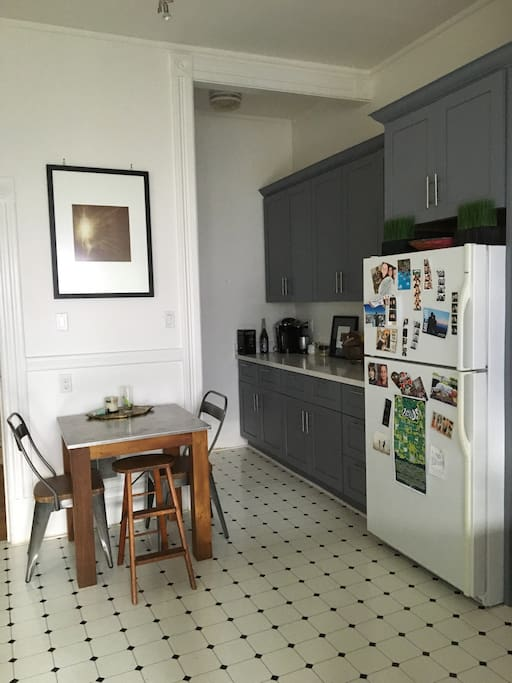 Beautiful newly renovated kitchen with breakfast table