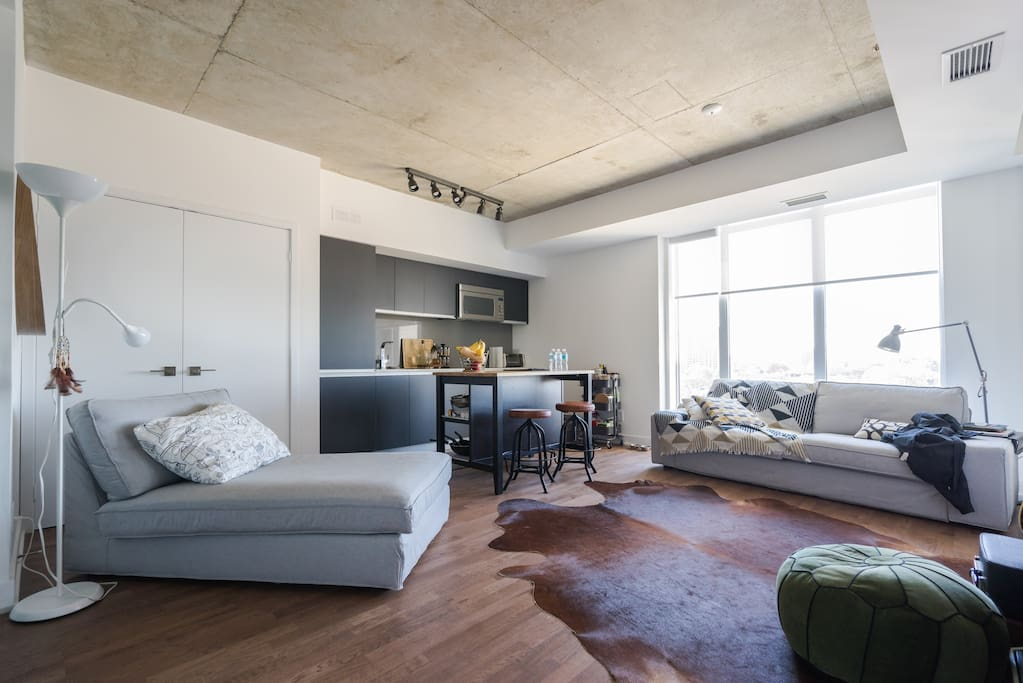 Modern Master Bedroom In Queen Street West Condominiums For Rent In Toronto Ontario Canada