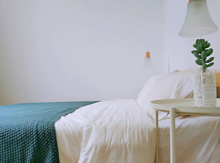 朴房「HOUSE如家」 至诚学院旁两室一厅80㎡套房|投影房|乳胶床|西禅寺|独立厨房|免费停车