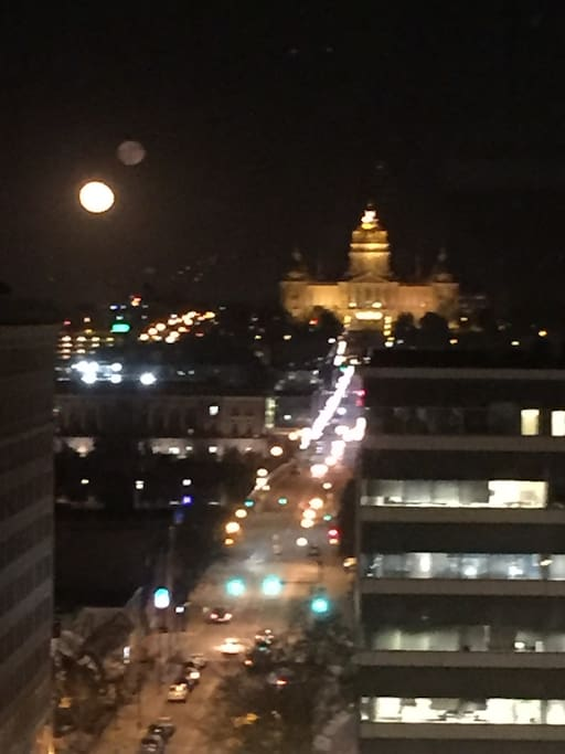 State Capital Building view with the Super moon!