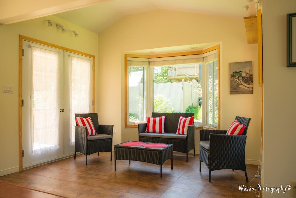 The Sun room - opens onto the deck