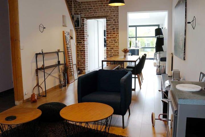 Chambre avec salle d'eau privative (proche tram) - Mouvaux - Huis