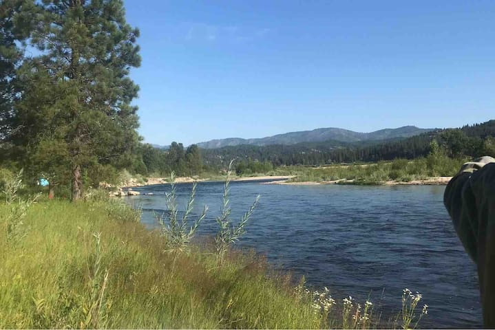 South Fork of the Payette river right out the back yard.