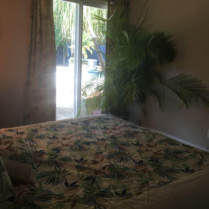 Main Bedroom pool exit