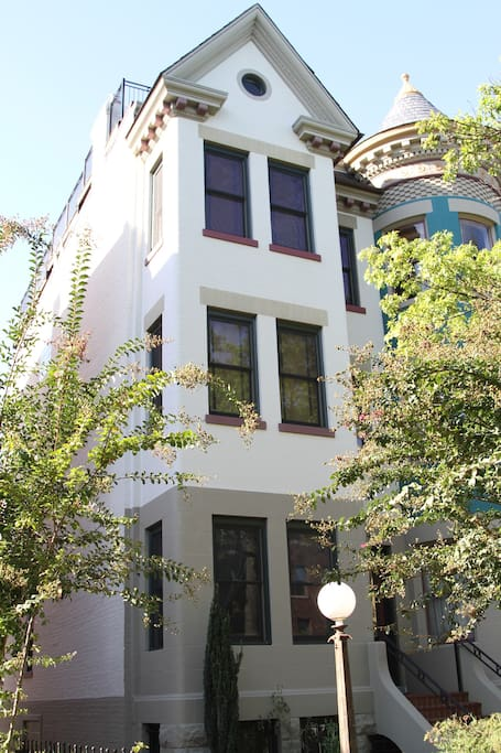 Lower level of this gorgeous 4-story townhouse
