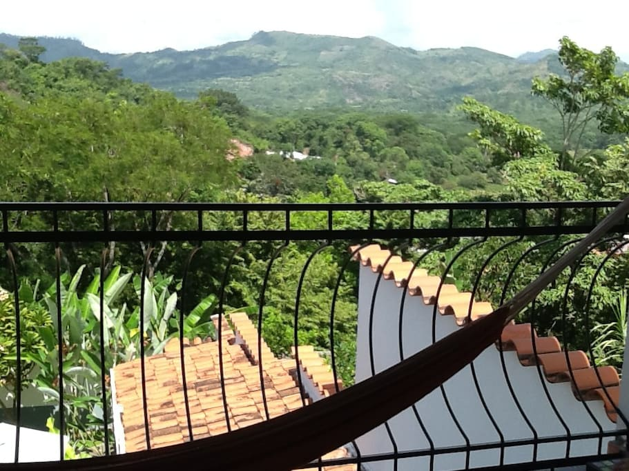Panoramic view of Copan River Valley & the archeological park