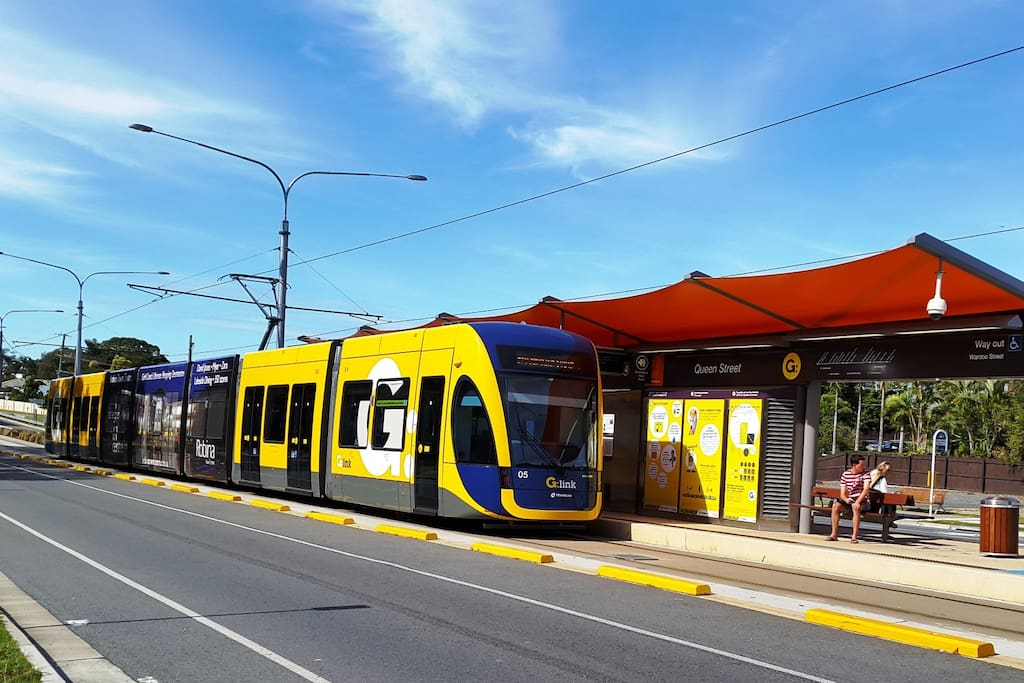 The tram stop