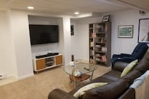 Living space with cable TV, HBO, and Showtime access