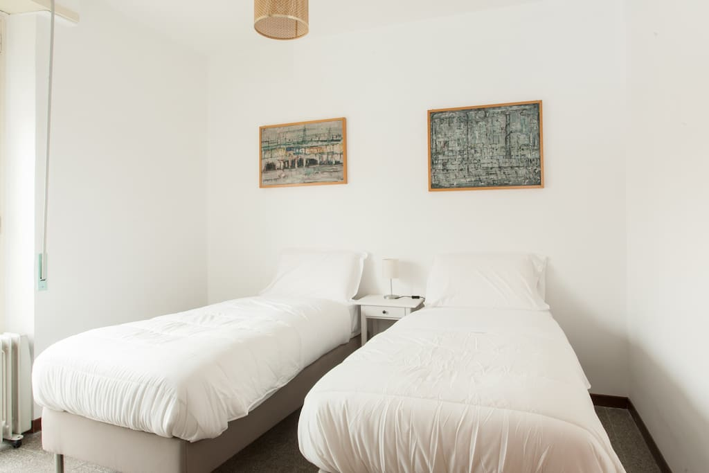 The second Bedroom - Two single beds with soft bed-linen and towels