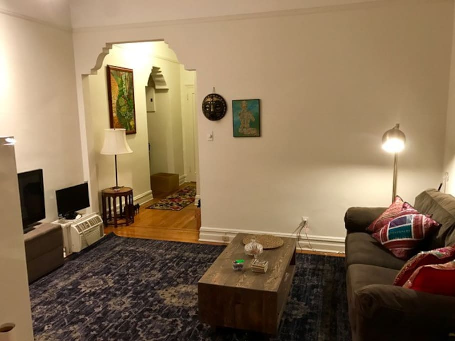 Living room area - inclusive of pull out couch