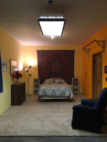 Bright Bohemian Basement