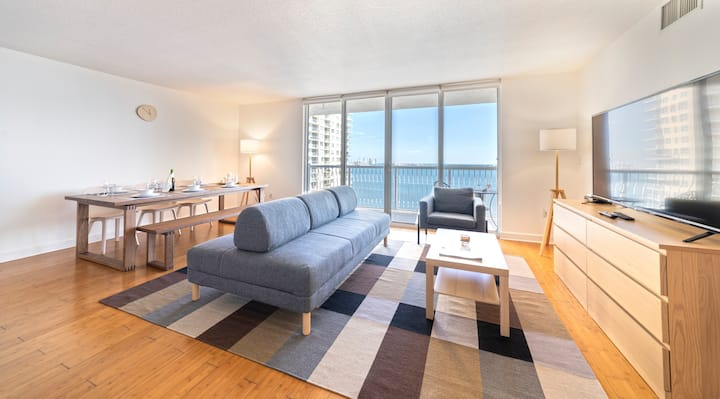 Oceanfront Brickell Condo In The Sky/Free Parking