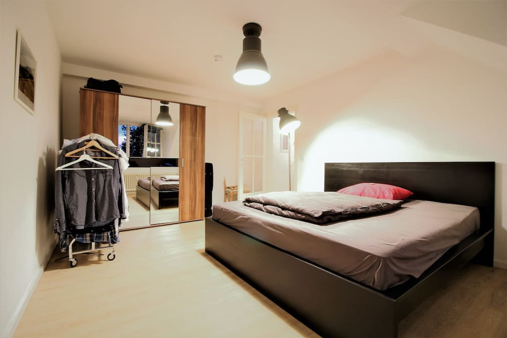 The bedroom offers also enough storage for your belongings