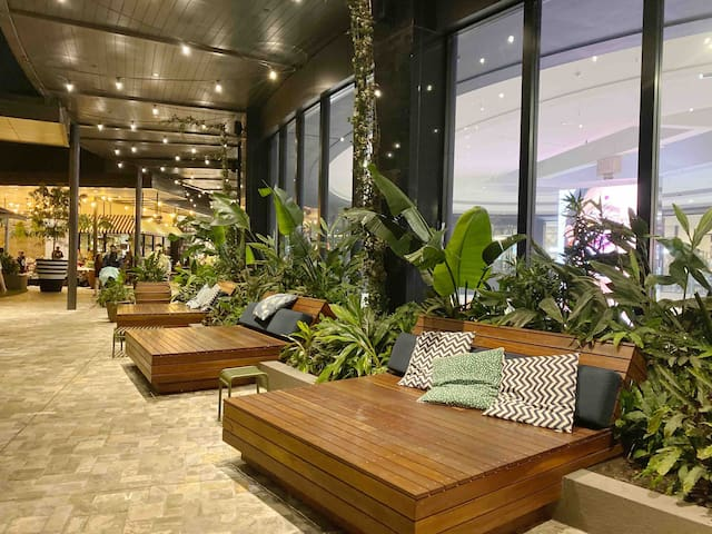 Relaxing area in Carousel Shopping Center