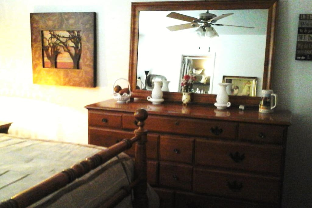 plenty of dresser and closet space