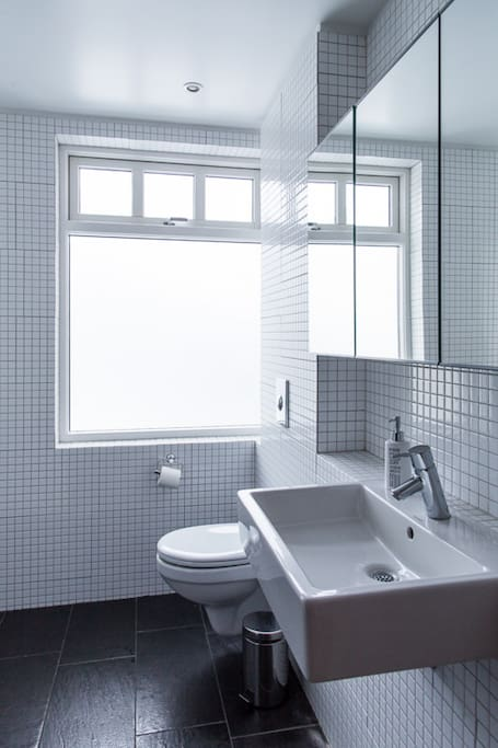 Bright and newly renovated bathroom