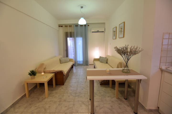 Family apartment, only 50 meters to the beach!!