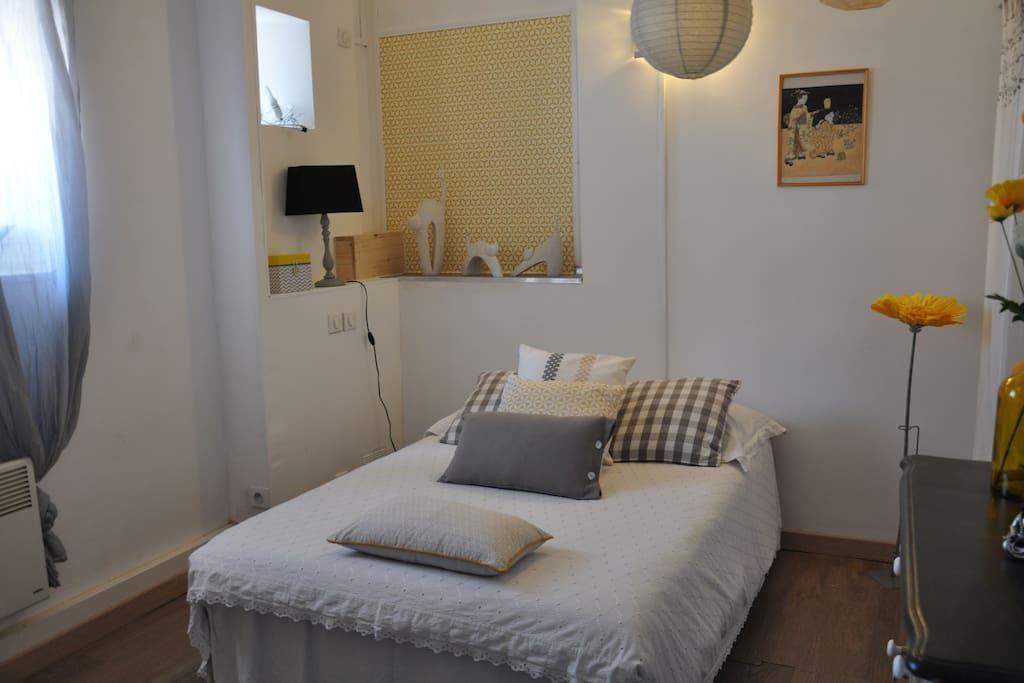Chambre 2 avec lit en 130 + 1 lit simple