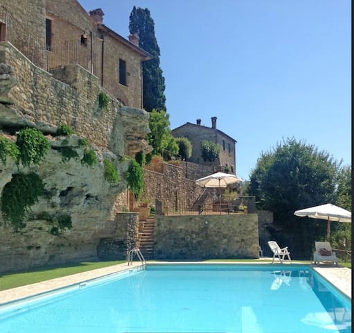 Oasis with pool between the Crete  Senesi