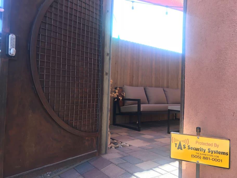 Back Gate Entry into property