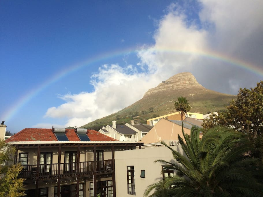 The view of Lion's Head from the balcony.