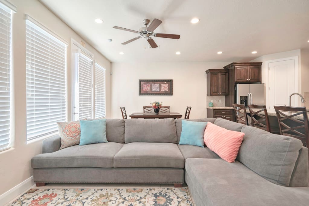 Living room over-sized sectional