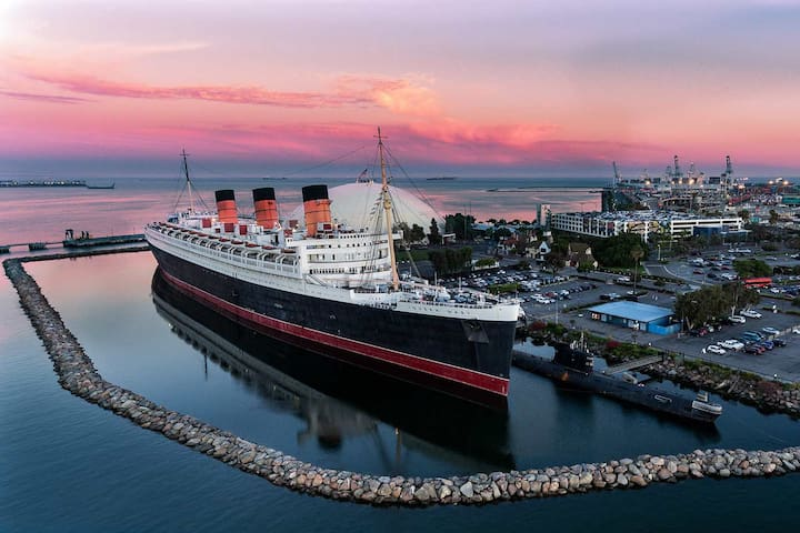Queen mary is an 6 minute drive!
