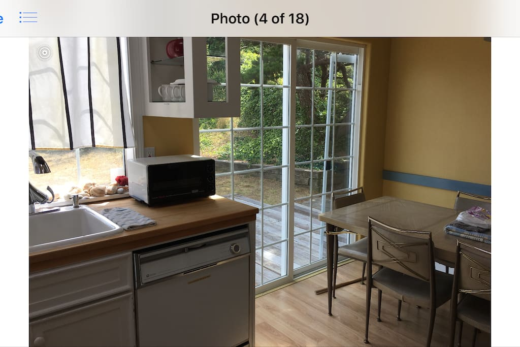 Kitchen-easy access to back patio