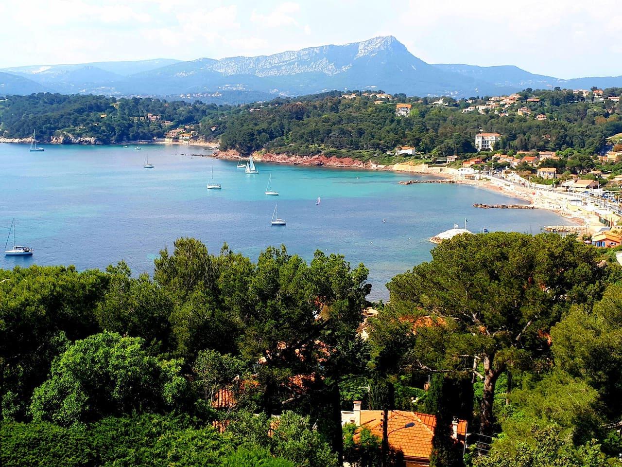 Votre vue mer sur la baie du Pradet: les plages de la Garonne