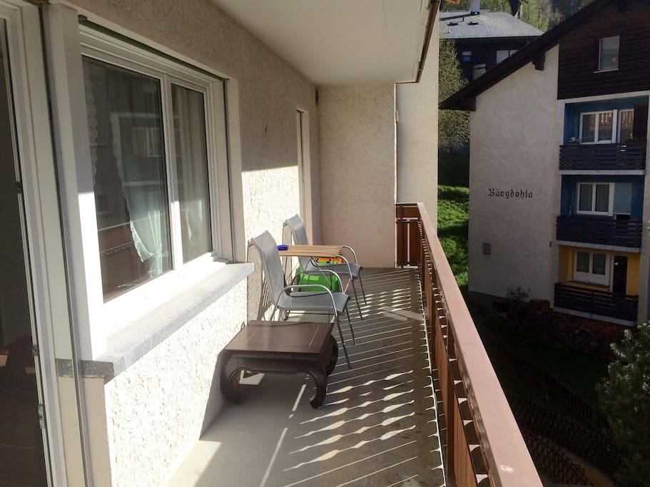 Afternoon sun on the balcony