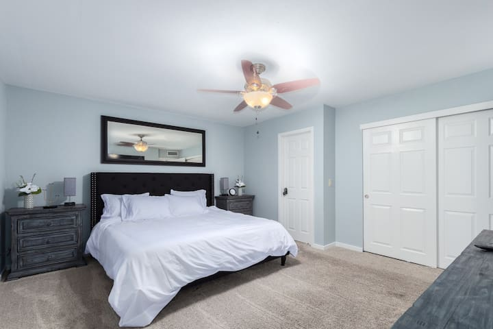 Master bedroom with closet
