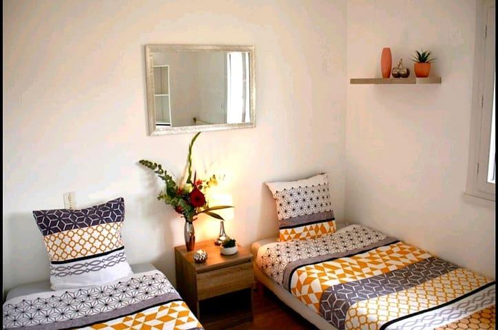 Chambre agréable à 10 min des falaises d'Étretat