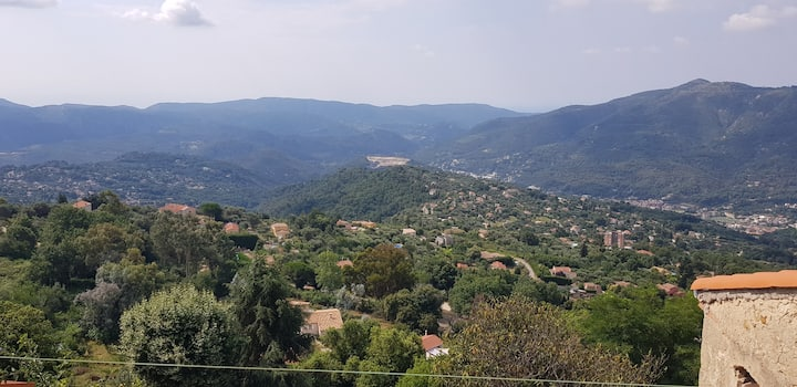 A Beautiful Hideaway 680m high,  24km from Nice.
