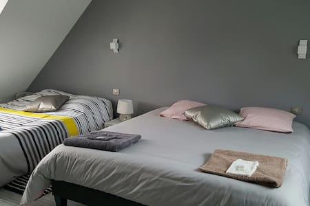 Chambre 2 lits doubles 13km du MANS et Circuit 24H - Fillé - Bed & Breakfast