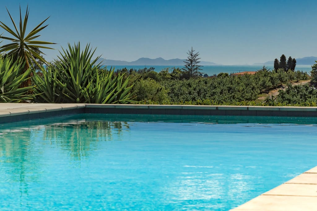 Heated Pool with lovely sea views