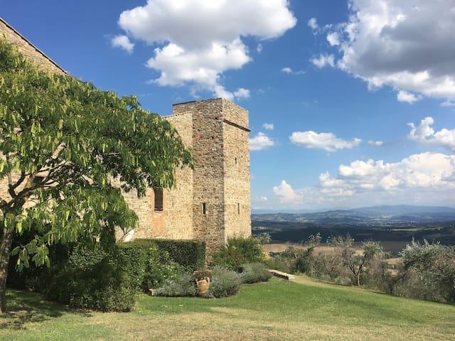 Medieval TOWER in Italian Burg of 1200 (UMBRIA)