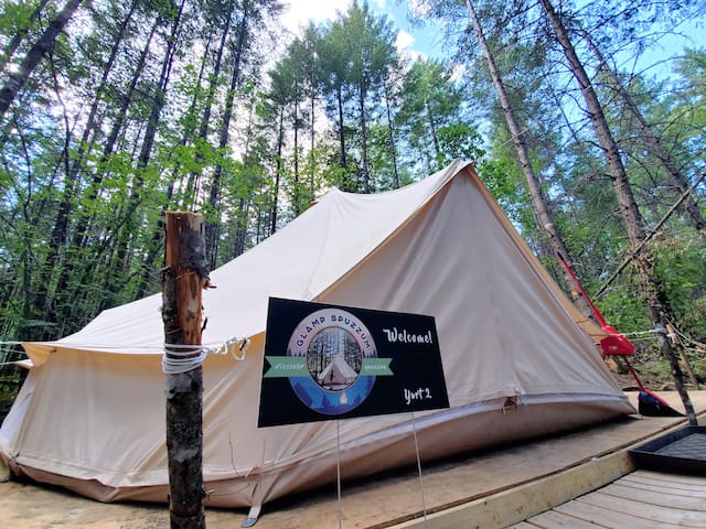 Yurt 2 at Glamp Spuzzum- Explore the Fraser Canyon