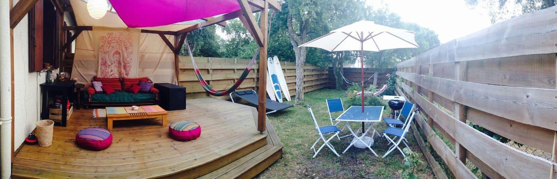 Joli appart avec jardin privé - Moliets-et-Maa - Apartment