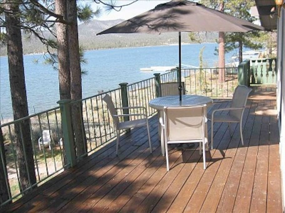 Summer deck: private 400+ sq ft deck w/safety rails to bring in panoramic views