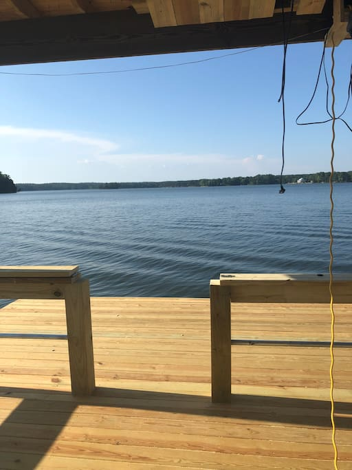 View from brand new dock