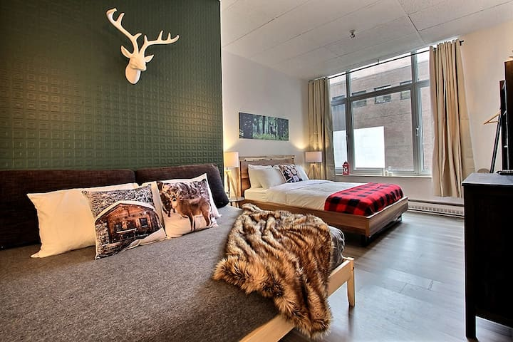 Forest Loft in Downtown Quebec City