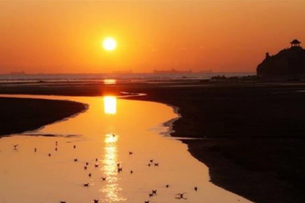 北戴河鸽子窝日出