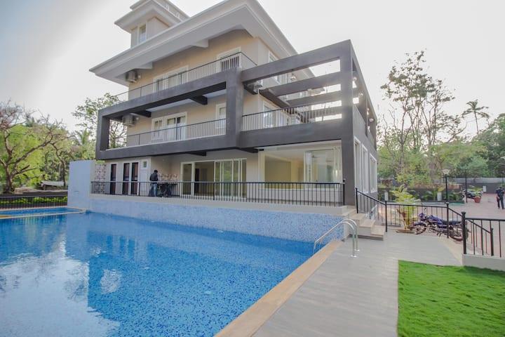 Luxury Pool View 3 BHK Apartment in Anjuna Vagator