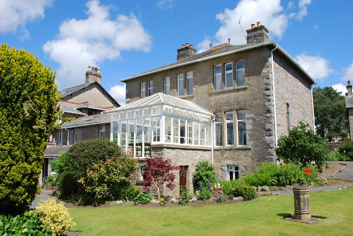 Riverside home for 12 people, Yorkshire Dales