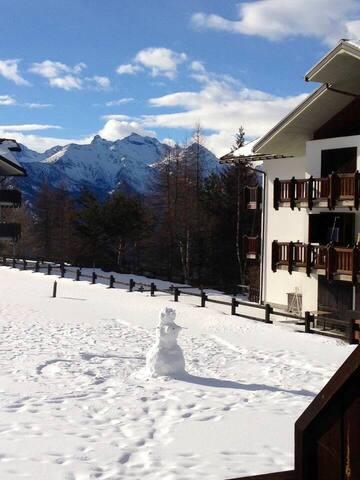 Monolocale al Col de Joux in villaggio alpino