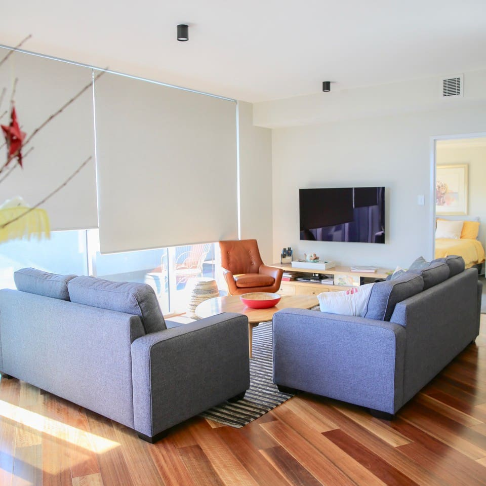 Light and airy living spacew