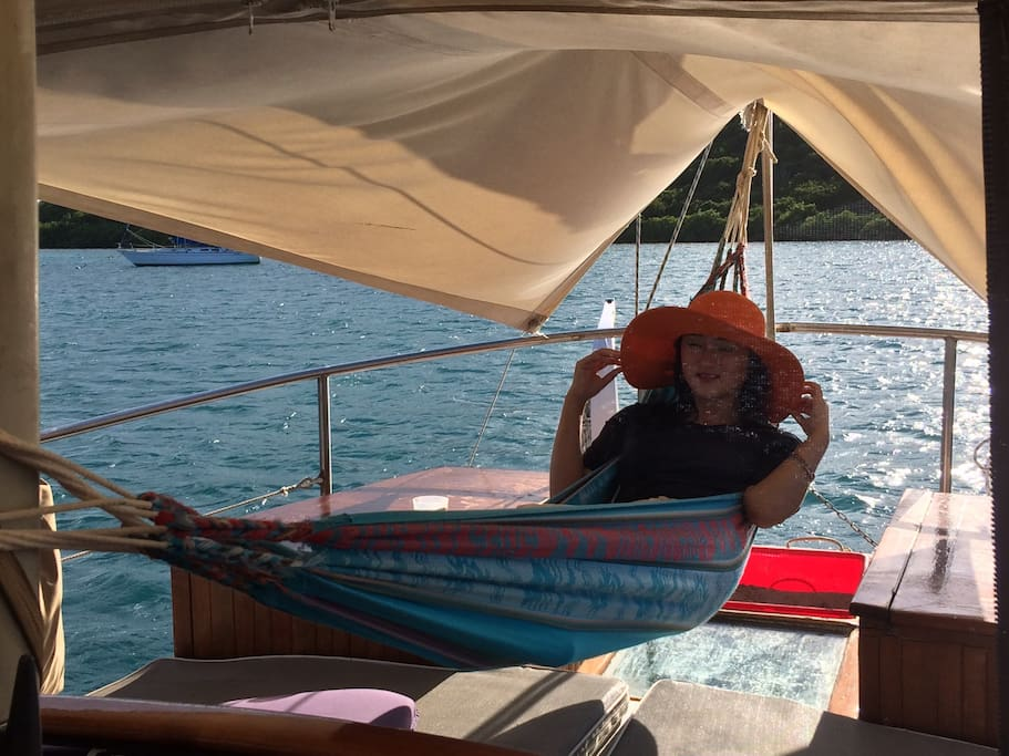 Aft hammock