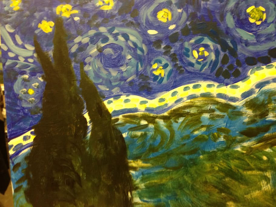 My rendition of the Starry Night in the guest bedroom