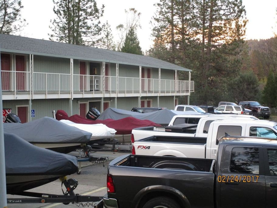 Ample Parking During Bass Tournament